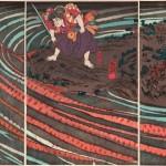 歌川国芳 「鬼若丸と緋鯉」