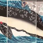 歌川国芳 「宮本武蔵と巨鯨」